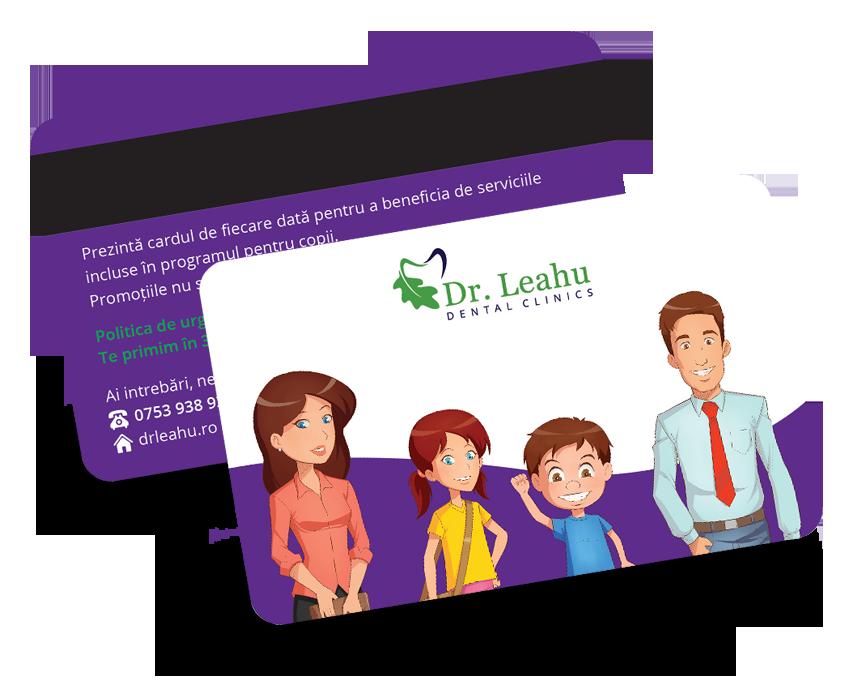 Imagine cu cardul Pedodontie ce se poate folosi in cadrul clinicii Dr Leahu de catre copii