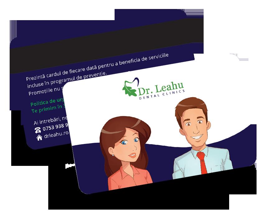 Imagine cu cardul Preventie Dentara ce poate fi folosit in cadrul clinicii Dr Leahu