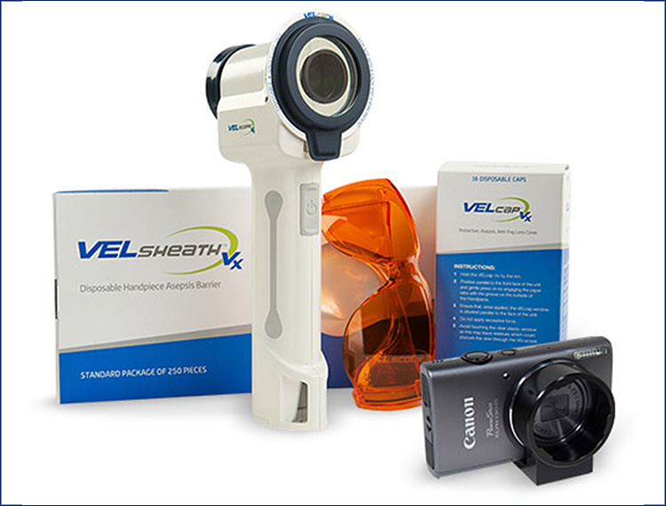 Aparatul Velscope de depistare a cancerului oral și accesoriile