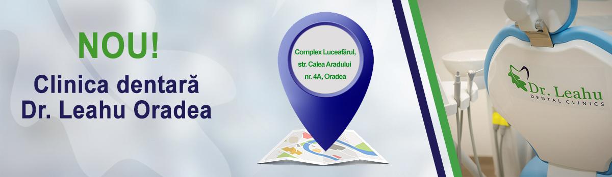 Banner al clinicii stomatologice Dr. Leahu Oradea