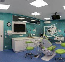 Cabinet stomatologic pentru copii, colorat, cu Tuti, dintisorul Zurliu, de la Academia spatiala Iasi