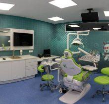 Cabinet dentar pentru copii, colorat, personaje de la Academia spatiala Dr Leahu