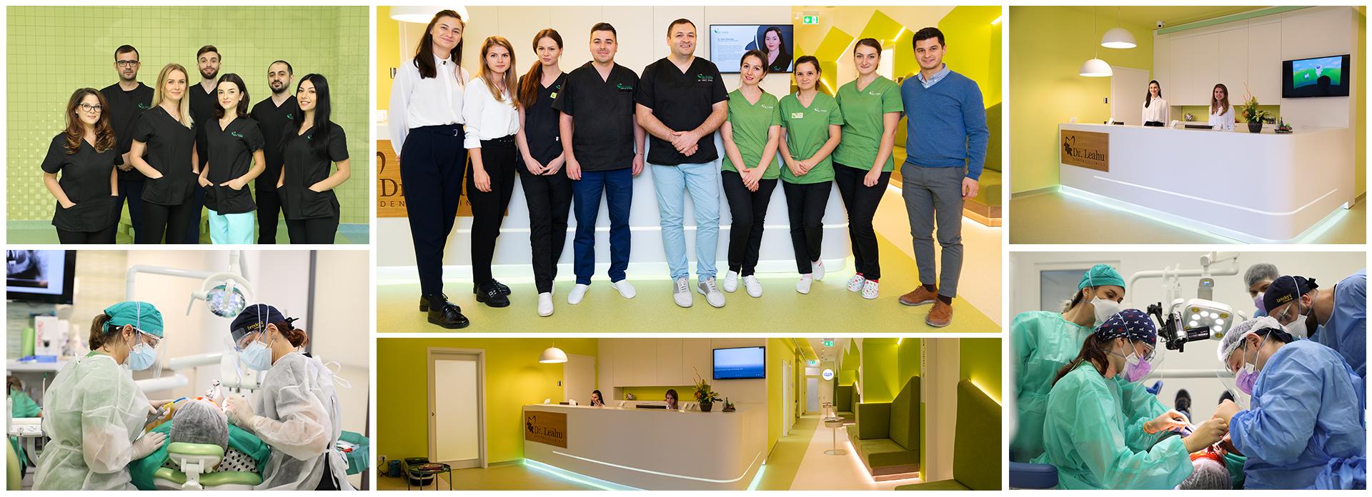 Dr. Ionut Leahu si echipa de medici, asistente si receptioniste, angajati la sediile clinicilor din Bucursti si din tara