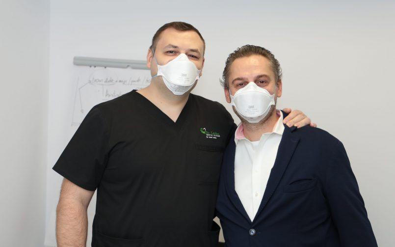 Dr. Ionut Leahu in stanga si reprezentantul Morphosis