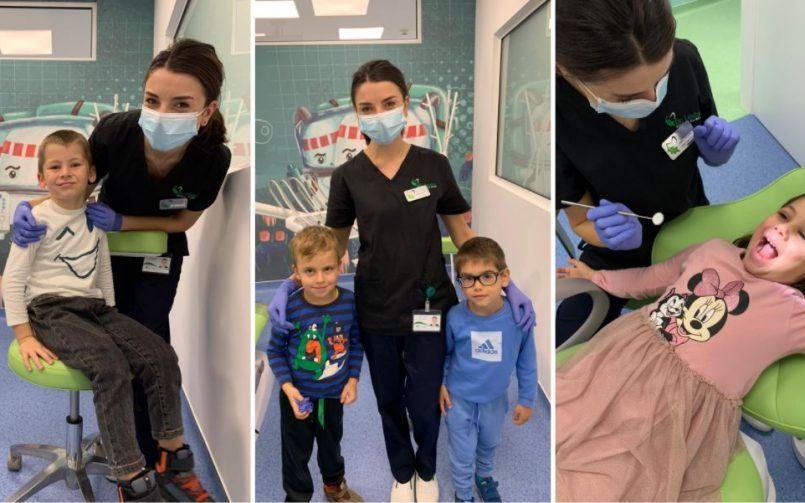 Dr. Sorina Păduraru impreuna cu pacientii
