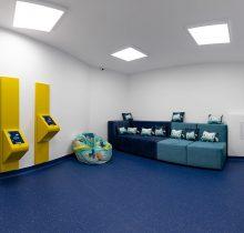 Sala de asteptare pentru copii, la cabinetul stomatologic de pediatrie, in clinica Dr Leahu Ploiesti
