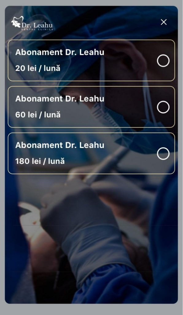 abonamente Clinicile Dentare Dr. Leahu oferite prin SanoPass